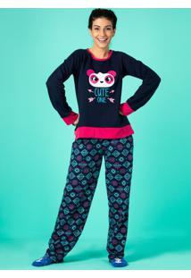 f0c772b0b7 ... Pijama Manga Longa Moletom Panda