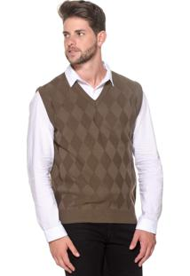 Colete Passion Tricot Lk Losango Brown B