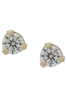 Zoë Chicco Par De Brincos De Ouro 14Kt Com Diamante - Dourado