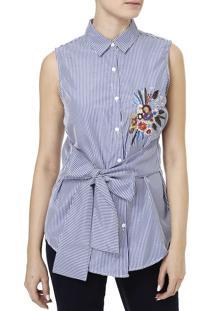 Camisa Regata Feminina Azul Marinho M