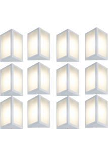 Arandela Triangular Branco Kit Com 12 Casah - Branco - Dafiti