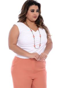 Cropped Transpassado Laise Plus Size