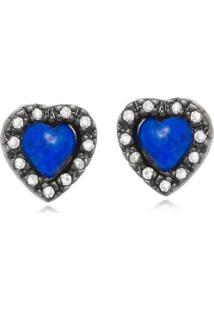 Brinco Rincawesky Coração Azul