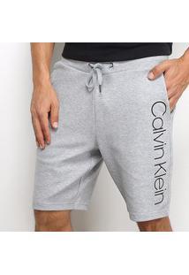 Bermuda Moletom Calvin Klein Masculina - Masculino-Mescla