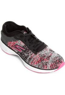 0fde02e82db Tênis Skechers Go Walk Sport Feminino - Feminino-Preto+Rosa