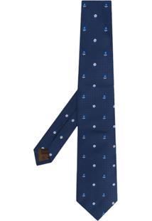 Church'S Gravata Com Padronagem - Azul
