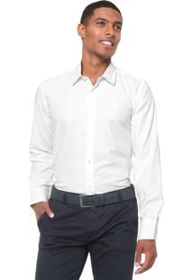 Camisa Aleatory Slim Textura Branca