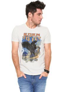 Camiseta Ellus Vintage Off-White