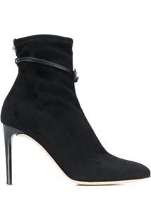 Giuseppe Zanotti Buckle Strap Ankle Boots - Preto