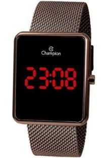 Relógio Champion Digital Led - Feminino-Marrom