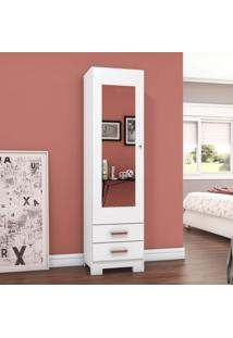 Sapateira Com Espelho 1 Porta 2 Gavetas Happy Siena Móveis Branco