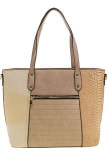 Bolsa Feminina Arara Dourada - T289 Bege
