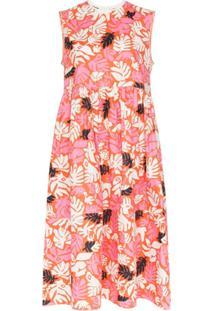 Marni Vestido Midi Sem Mangas Com Estampa Floral - Rosa