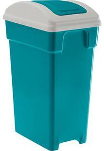 Lixeira Plastica Retangular Selecta Vai E Vem 20 Litros Verde Paramount