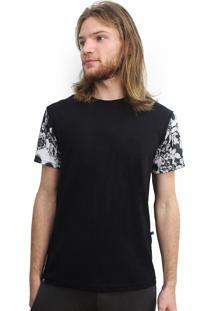 Camiseta Alkary Floral Preta