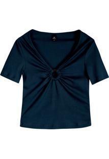 Blusa Hering Franzido Azul