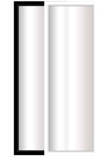 Espelho Emoldurado 33X114Cm Preto E Branco Euroquadro