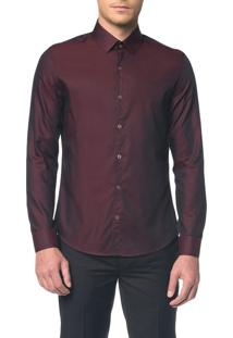Camisa Slim Monte Carlo C Vico Natural - Bordo - 6
