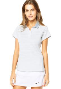 Camisa Polo Nike Advantage Stripe Lt Magnet Cinza