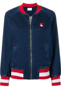 Karl Lagerfeld Jaqueta Jeans Com Detalhes Contrastantes - Azul