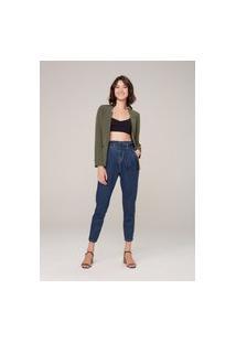 Calça Jeans Mom Em Ultra Stretch - Azul
