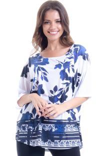 Blusa 101 Resort Wear Estampada Malha Fria Porto Belo