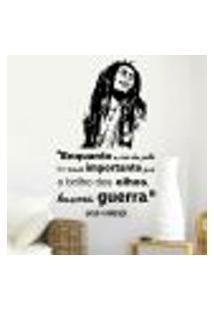 Adesivo De Parede Frase Bob Marley 2 - P 60X36Cm