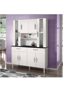 Armário De Cozinha Sampaio 8 Portas E 2 Gavetas Branco - Chf Móveis