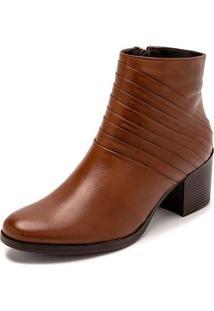 Bota Sandalo Clave De Fa Lira Feminina - Feminino-Marrom