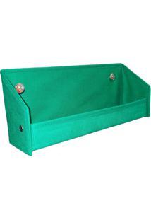 Revisteiro Prateleira Para Livros Organibox Verde Bandeira - Tricae