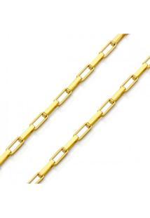 Corrente Em Ouro 18K Cartier De 0,9Mm Com 60Cm