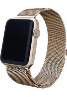 Pulseira Isd Loop Milanese Para Apple Watch 42Mm / 44Mm Dourado Escuro