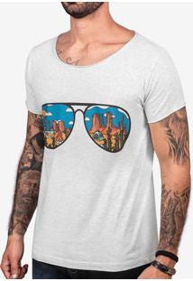 Camiseta Desert Mescla Claro Gola Canoa 103396