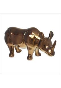 Enfeite Rinoceronte Em Ceramica Pintura Metã¡Lica Cobre - Cobre - Feminino - Dafiti