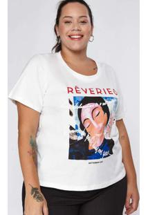 T-Shirt Almaria Plus Size New Umbi Rêveries Branco