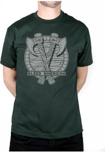 Camiseta Bleed American Suiones Shield Musgo