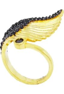 Anel La Madame Co Angel Regulável Dourado