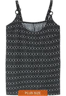 Blusa Geométrica Com Argola Plus
