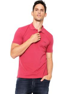 Camisa Polo Sommer Bordado Vermelha