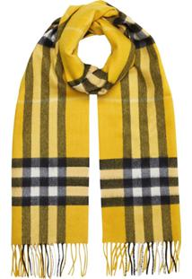 Burberry Cachecol 'The Classic Check' De Lã - Amarelo