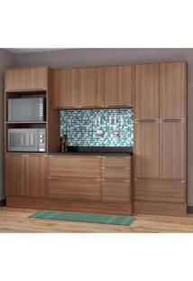 Cozinha Completa 8 Módulos 13 Portas Calábria Multimóveis Nogueira