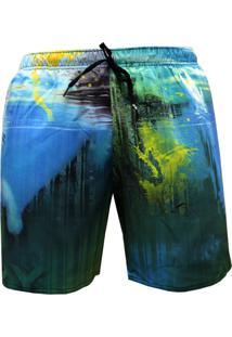 Shorts Alkary Elástico Netuno Azul
