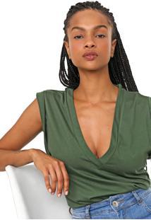 Camiseta Colcci Lisa Verde - Verde - Feminino - Algodã£O - Dafiti