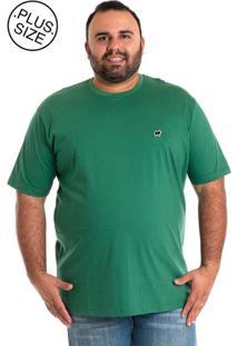 Camiseta Konciny Básica Plus Size Verde