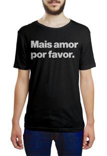 Camiseta Hunter Mais Amor, Por Favor Preta