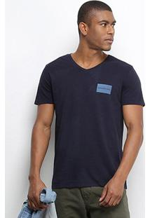 Camiseta T-Shirt Calvin Klein Masculina - Masculino-Marinho