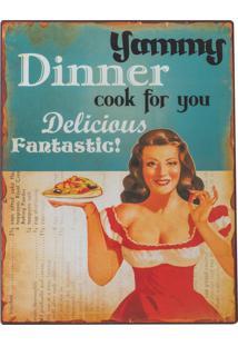 Placa Decorativa Route Dinner