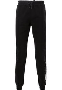 Bally Logo Print Drawstring Trousers - Preto