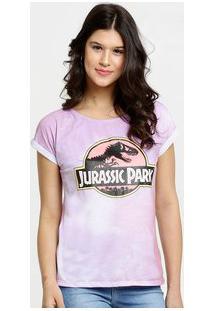 Blusa Feminina Tye Dye Estampa Jurassic Park Universal