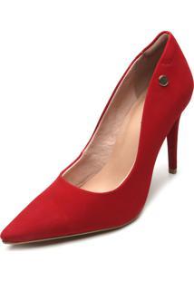 Scarpin Colcci Camurça Vermelho